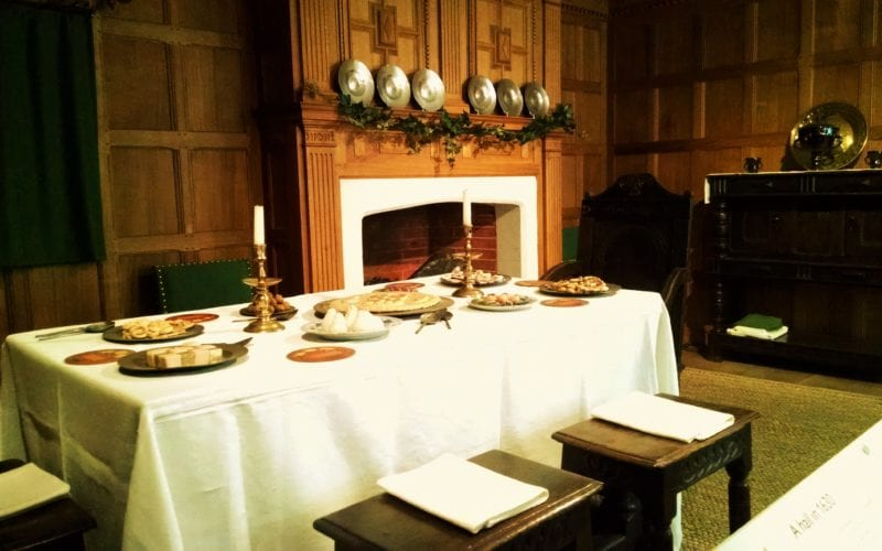 Geffrye Museum period room decorated for Christmas