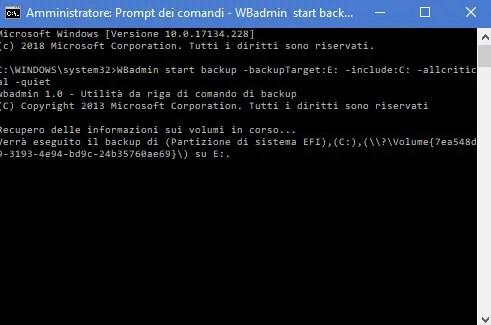 bck04 - Come creare un immagine di sistema in Windows 10