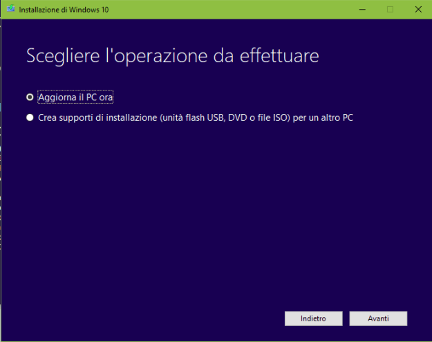 step2 - Come aggiornare a Windows 10 Fall Creators Update?