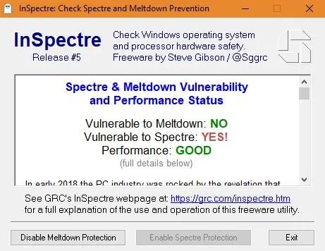 inspectre03 - Come controllare se siamo vulnerabili ai bug Spectre e Meltdown