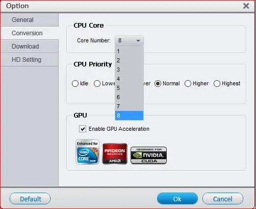 Impostazioni CPU e GPU - Recensione di HD Video Converter Factory Pro + Giveaway!