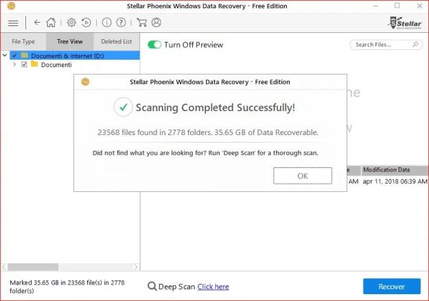 4 Fine processo - Recensione di Stellar Phoenix Windows Data Recovery + Sconto!