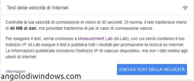 googlevelocfl - Come misurare la velocità della propria linea ADSL?