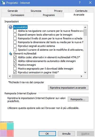 iexploreFL - Come reimpostare i browser?