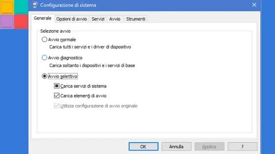 avviopuli - Come applicare un avvio pulito in Windows