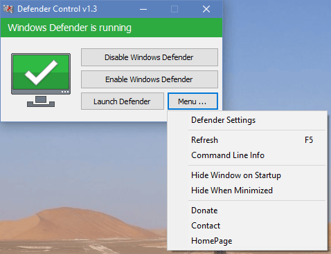 defender control menu - Come disabilitare-riabilitare Windows Defender velocemente