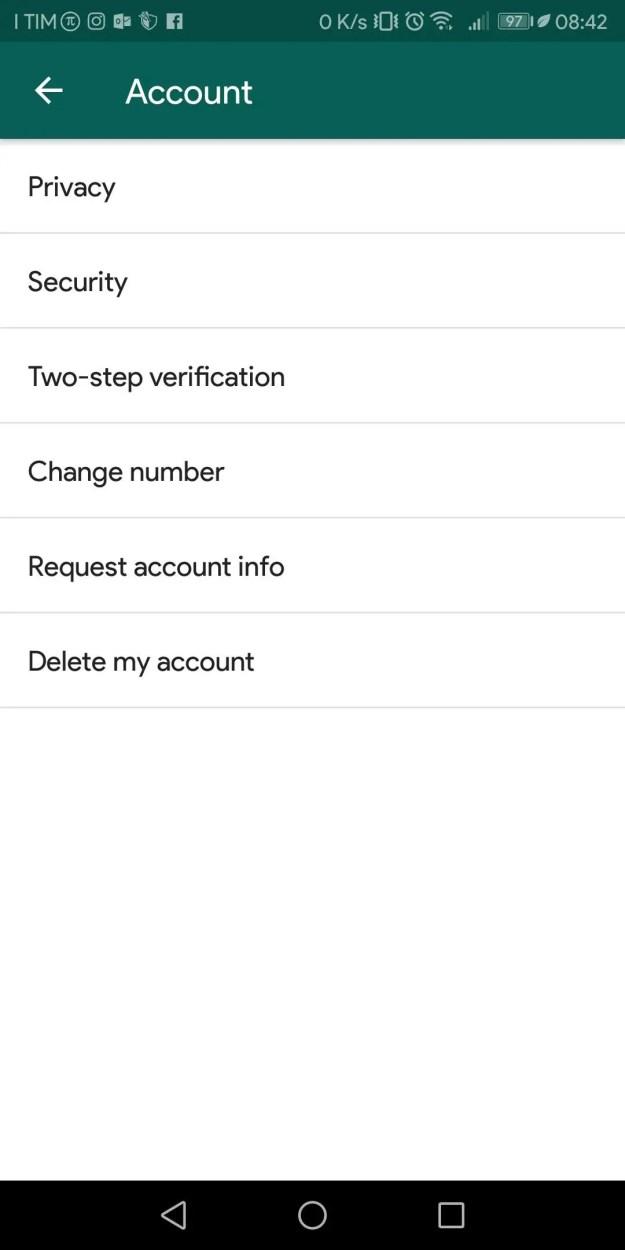 Screenshot 20181009 084225 - WhatsApp: Come abilitare l'autenticazione a due fattori
