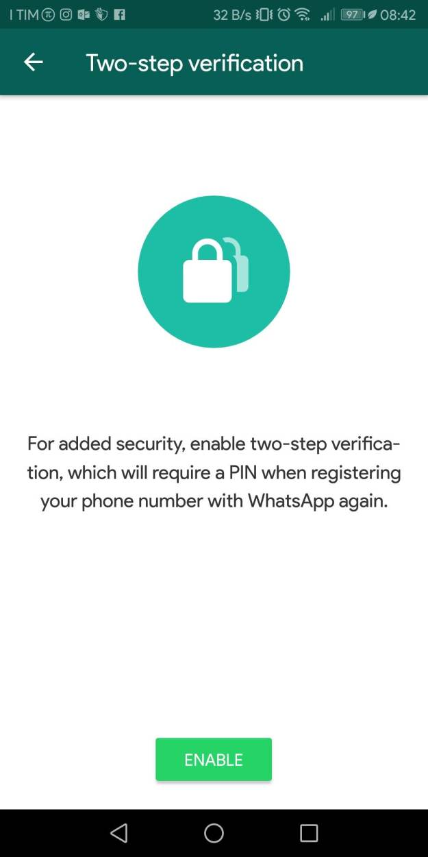 Screenshot 20181009 084230 - WhatsApp: Come abilitare l'autenticazione a due fattori