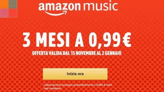amazonmusicover - Offerta limitata: 3 mesi di Amazon Music Unlimited a 0,99€