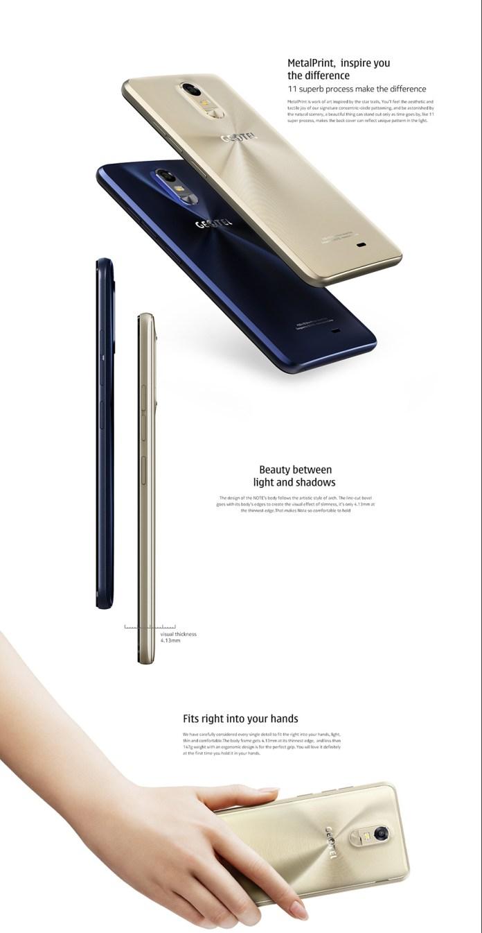 Geotel Note 4G design