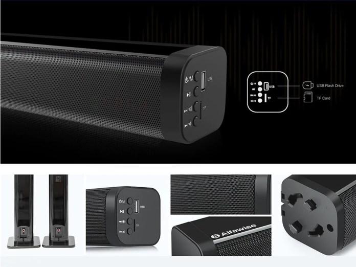 Alfawise XBR 08 sound bar ports