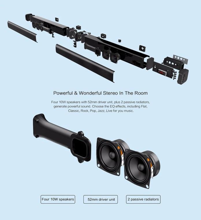 Alfawise XBR 08 sound bar speakers