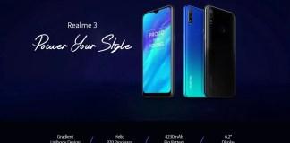 Realme 3 smartphone