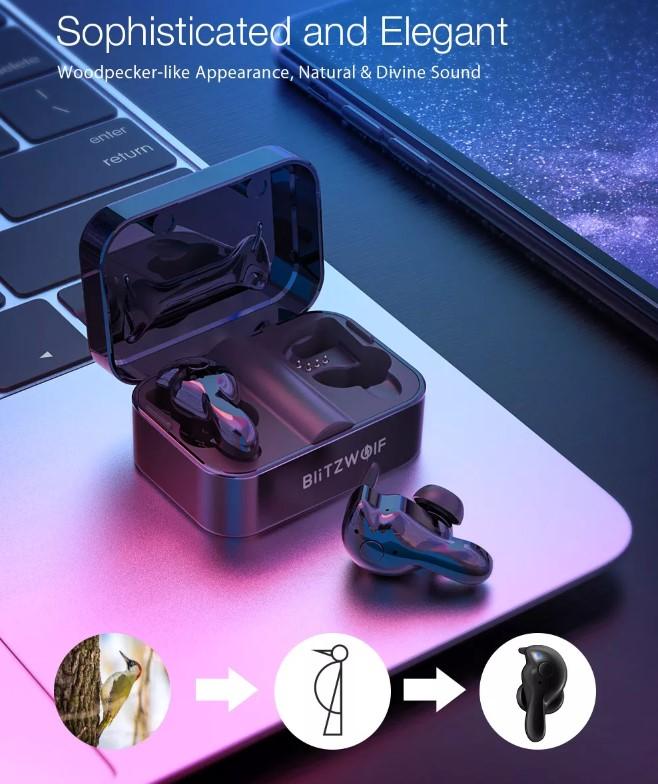BlitzWolf-BW-FYE1 TWS Earphones design