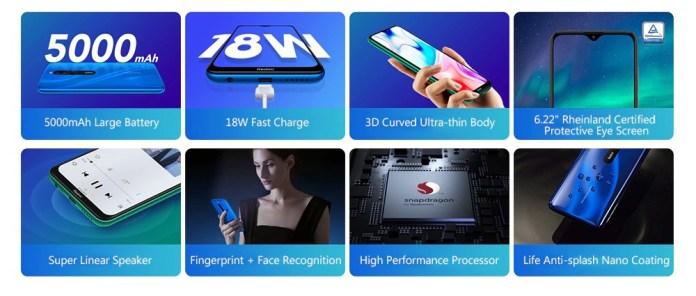 Redmi 8 smartphone features