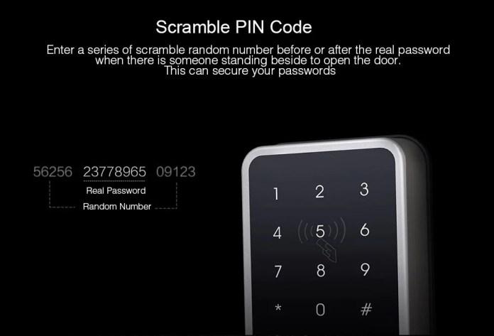 Xiaomi Aqara s1 Smart door lock scramble pin