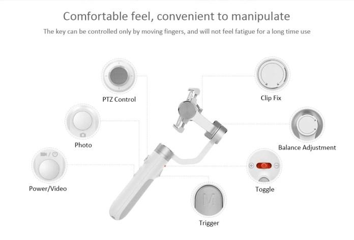 Xiaomi Mijia Gimbal controls