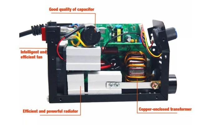 zx7 200 mini welding maching interior