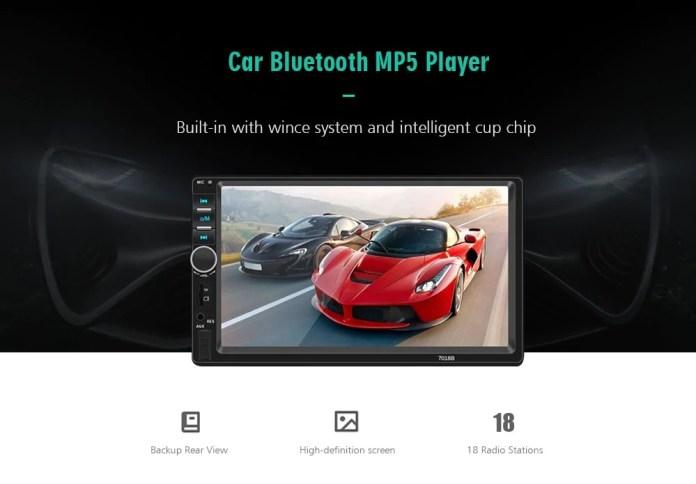 7018B HD ηχοσύστημα αυτοκινήτου 7-inch