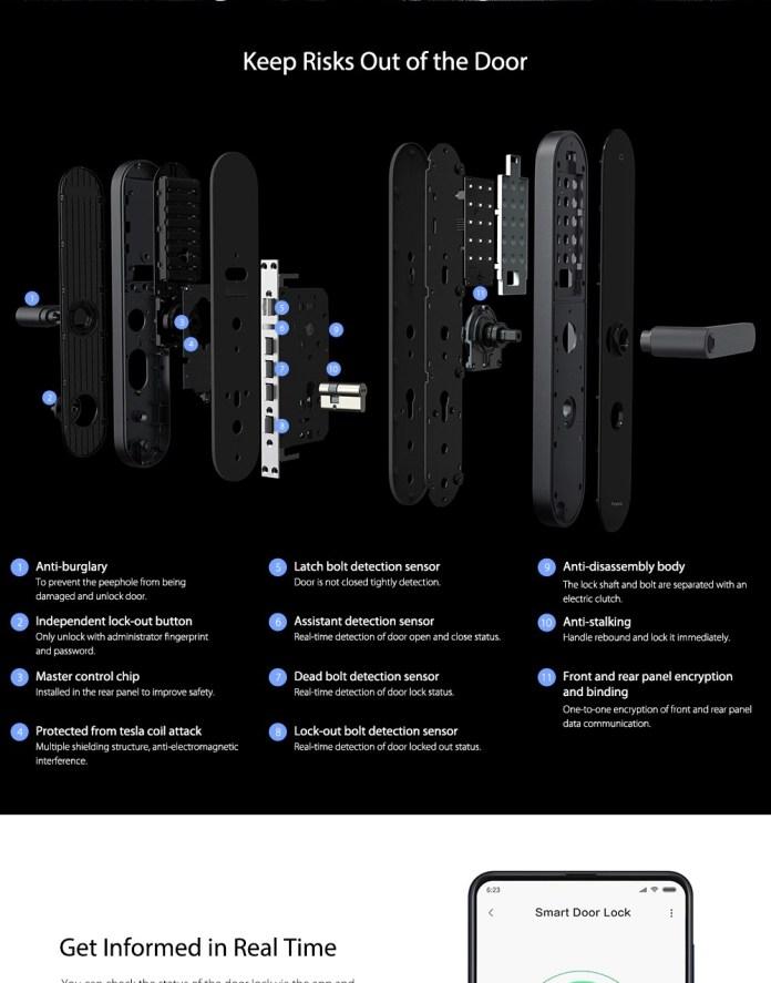 Aqara N100 Smart Door Lock 7 ways to unlock safety