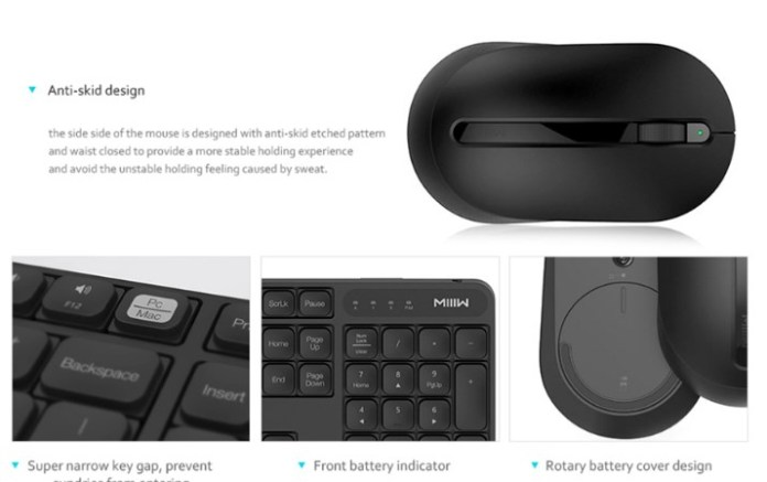 Xiaomi MIIIW Wireless Keyboard & Mouse set mouse