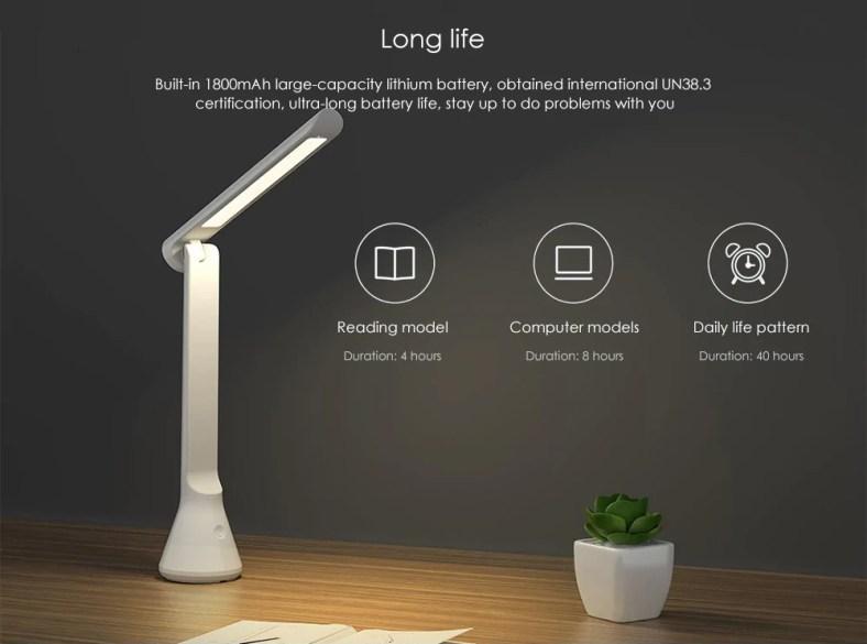 YEELIGHT YLTD11YL USB Folding Charging Small Table Lamp 2