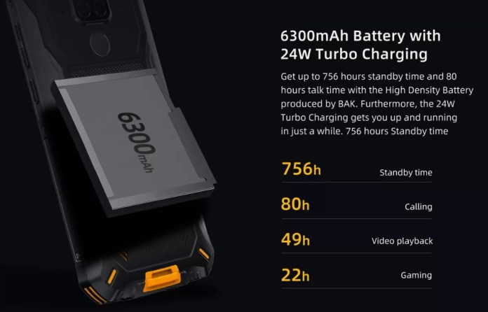 Doogee S68 Pro battery