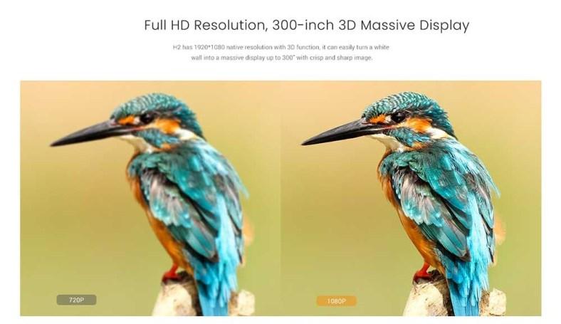 XGIMI XHAD01 H2 DLP 1350 ANSI Lumens full hd