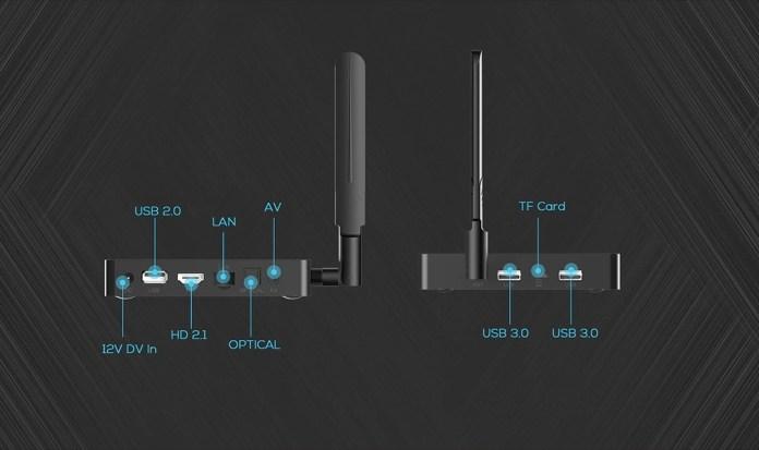 MagicSee N6 Plus Android TV Box ports