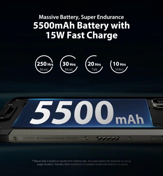 Ulefone Armor 7 Rugged Smartphone battery