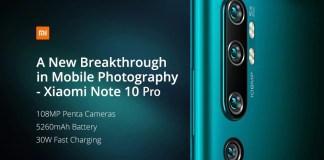 Xiaomi Mi Note 10 Pro Gearbest offer
