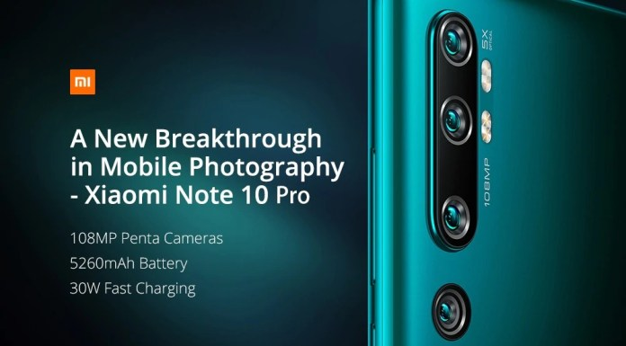 Xiaomi Mi Note 10 Pro Gearbest offer