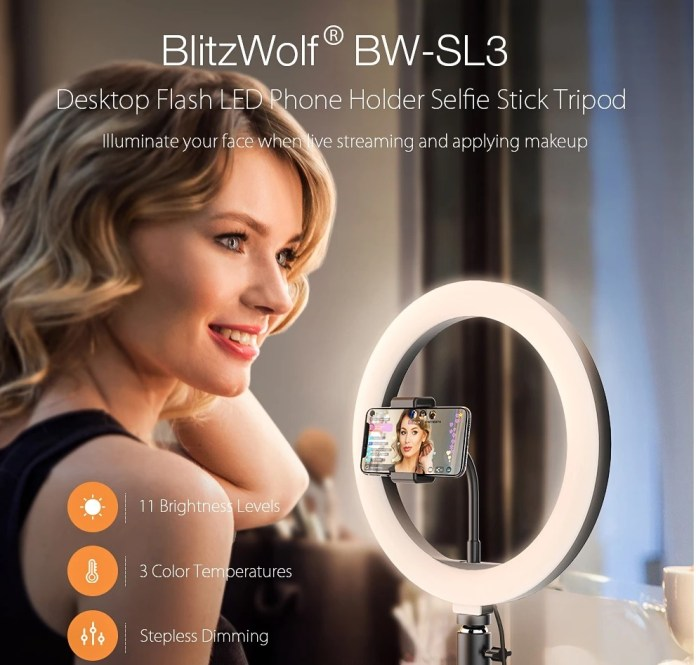 BlitzWolf bw SL3 tripod led ring