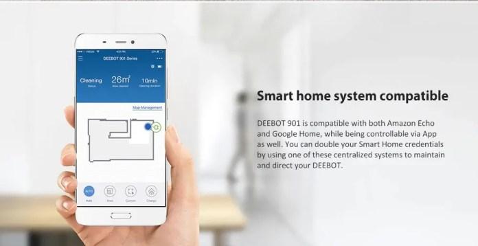 Ecovacs Deebot 901 robot vaccum smart home