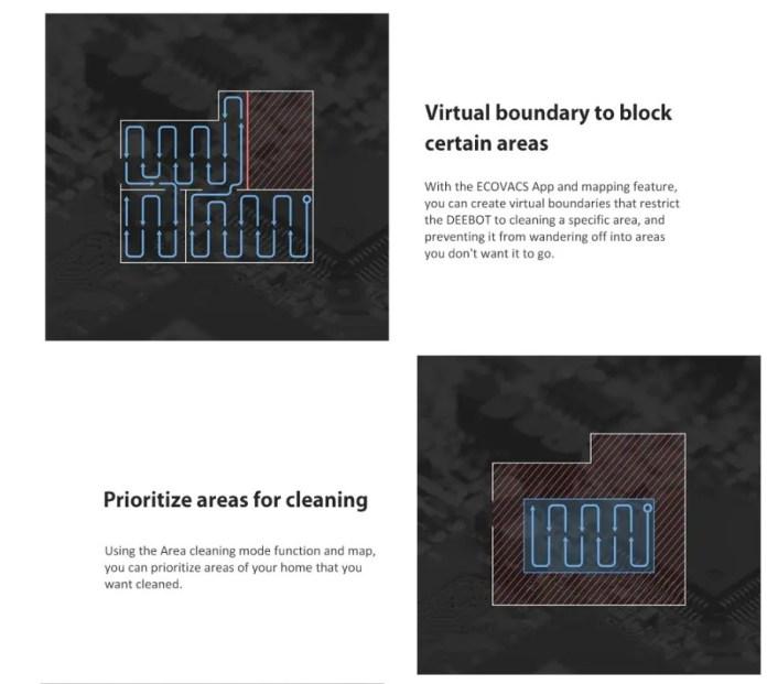 Ecovacs Deebot 901 robot vaccum virtual walls