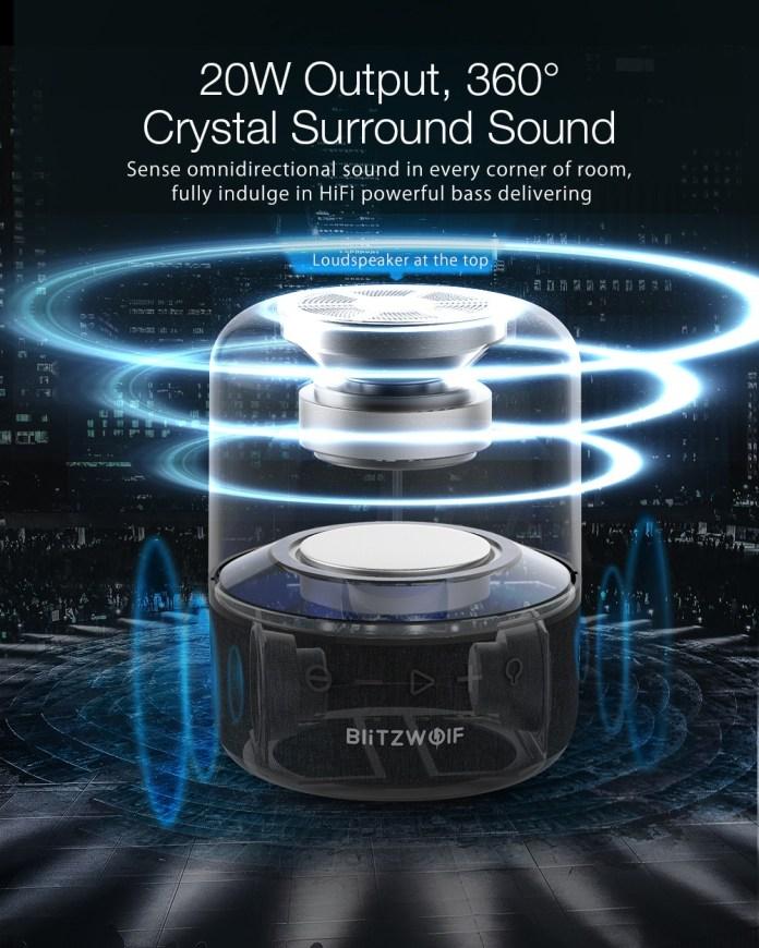 BlitzWolf BW-AS4 20W Wireless Speaker bluetooth 5.0 with 360°Stereo Sound 2