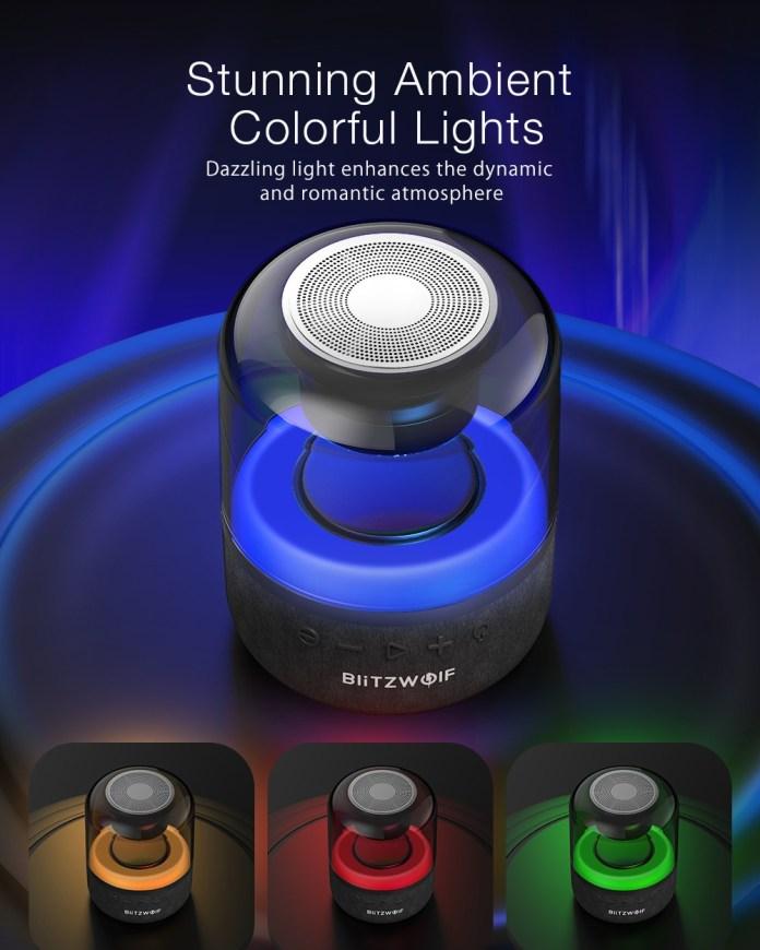 BlitzWolf BW-AS4 20W Wireless Speaker bluetooth 5.0 with 360°Stereo Sound 3