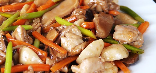 Chicken and Shitake in Hoisin Sauce