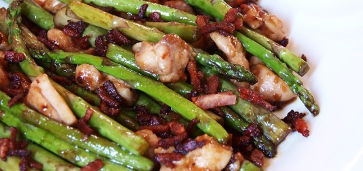 Chicken and Asparagus in XO Sauce