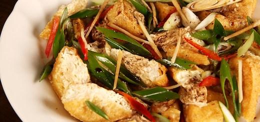 Deep Fried Tofu in Chilli Sesame Sauce
