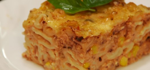 Cheesy Salmon Pasta Bake