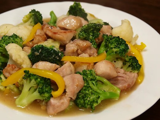Chicken, Cauliflower and Broccoli Stir Fry