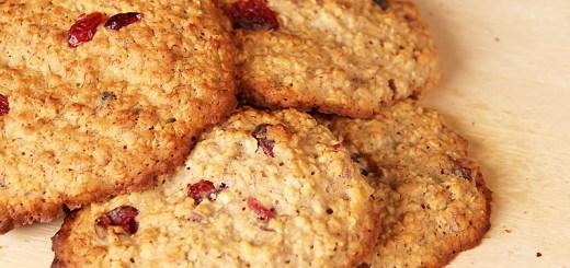 Honey Banana and Cranberry Oat Cookies