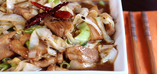 Pork and Cabbage in Black Bean Sauce 1