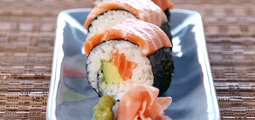 Salmon and Avocado Sushi