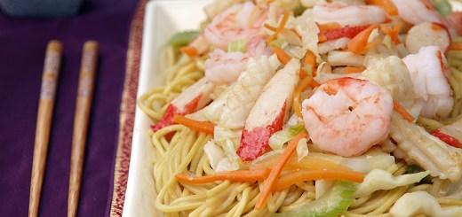 Stir Fried Seafood Noodles