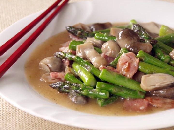Asparagus, Ham and Mushroom Stir Fry