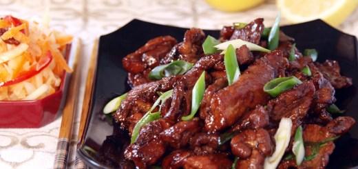 Stir Fried Pork Fillets with Honey and Ginger