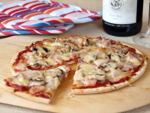Swedish Capricciosa (Ham, Cheese and Mushroom Pizza)