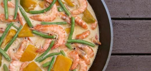 Guinataang Hipon at Kalabasa (Shrimps and Squash in Coconut Cream Sauce)